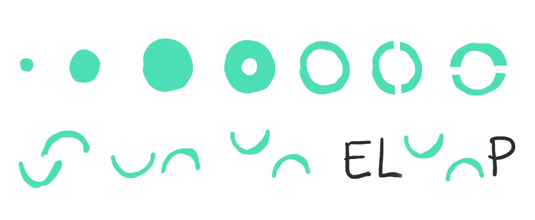 Sketch of ELOOP Logo Animation